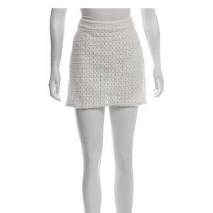 Frane crochet mini skirt